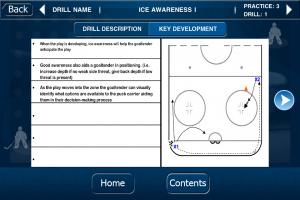 hockey goalie drill sample