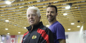 Barry Smith Chicago Blackhawks with Nate Leslie